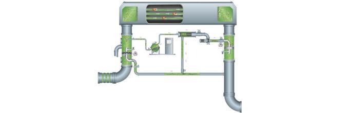 Das optimale Kondensator-Reinigungssystem mit 100%iger Kugelfangrate